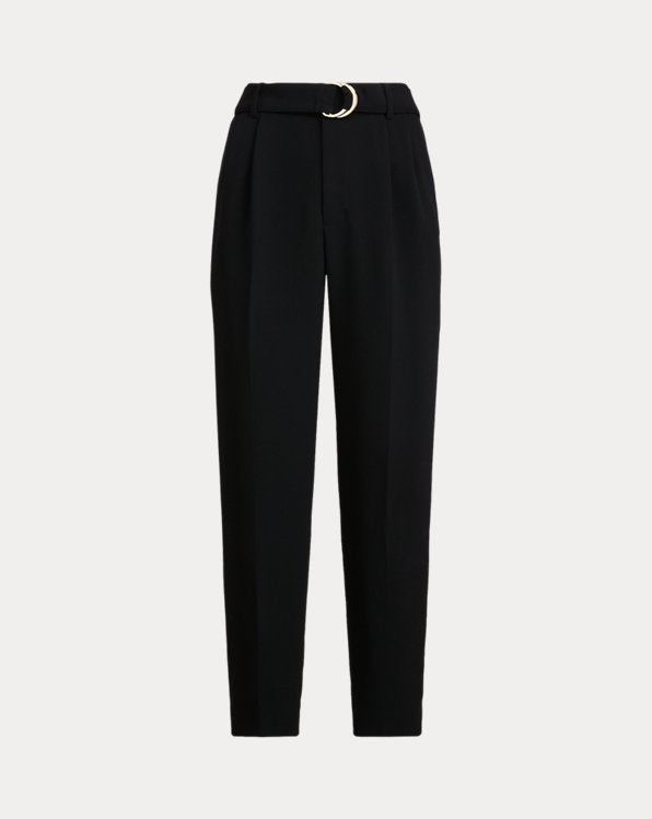 Belted Crepe Trouser