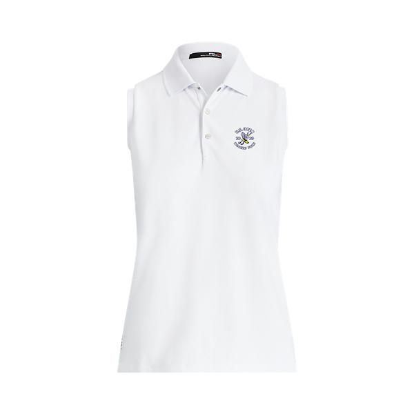 폴로 랄프로렌 RLX 골프 민소매 폴로 셔츠 Polo Ralph Lauren U.S. Open Golf Sleeveless Polo Shirt,Pure White