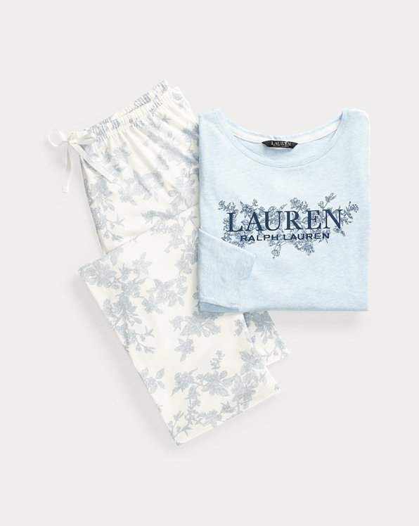 Logo Cotton-Blend Sleep Set