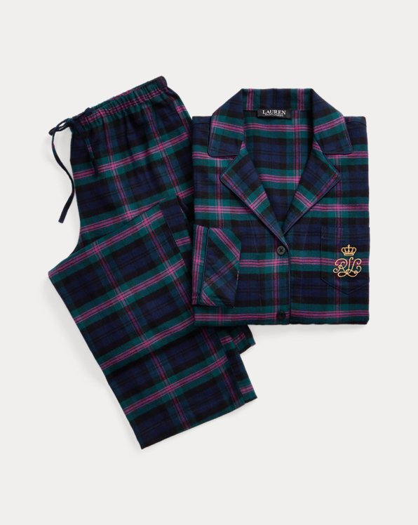 Plaid Brushed Twill Sleep Set