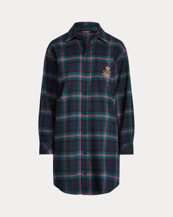 Plaid Brushed Twill Sleep Shirt