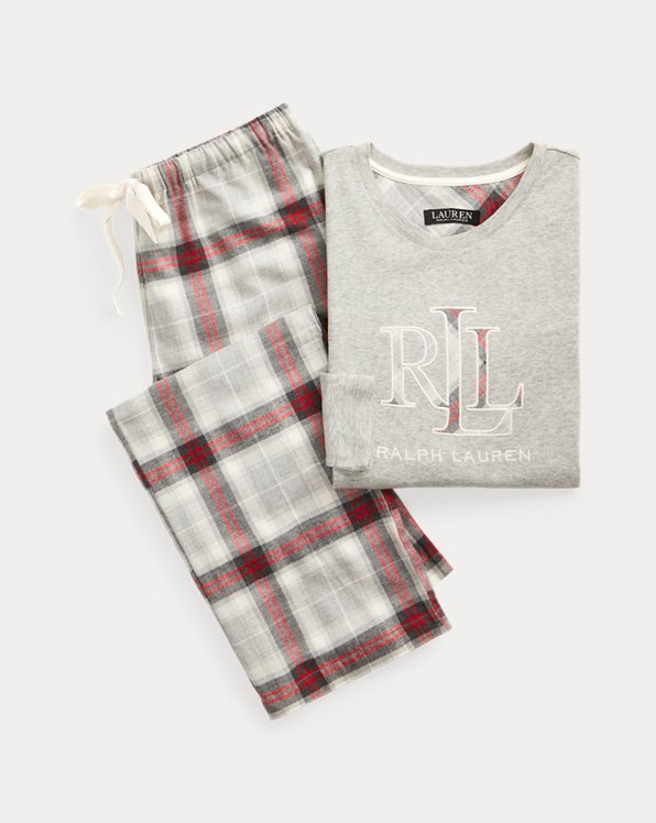 Plaid Cotton Twill Sleep Set