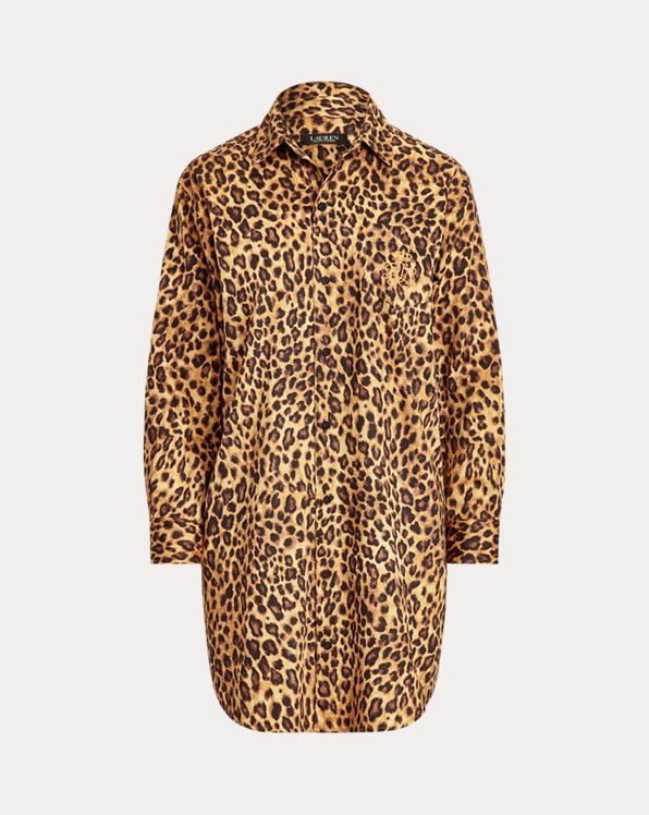 Leopard Cotton Sleep Shirt