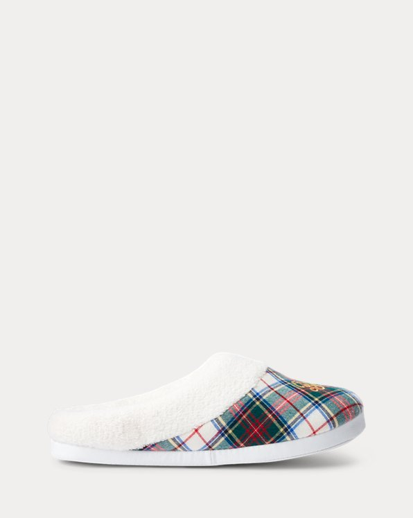 Plaid Logo Slipper