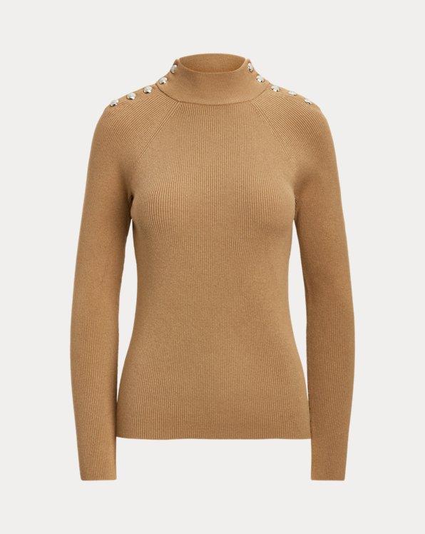 Jersey de cuello semicisne con botones