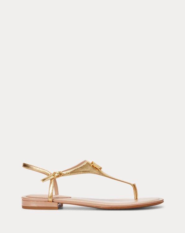 Ellington Metallic Leather Sandal