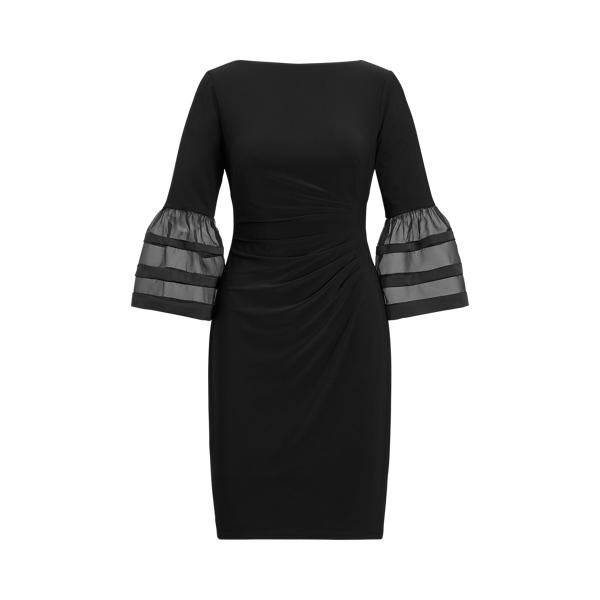 Bell-Sleeve Jersey Dress