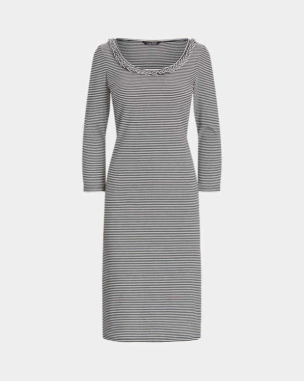 Striped Stretch Cotton Dress
