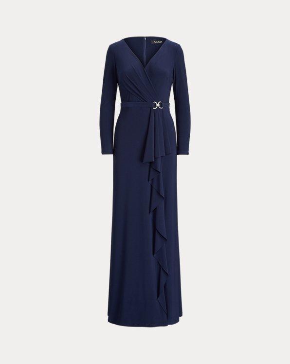 Jersey-Abendkleid mit Rüschen