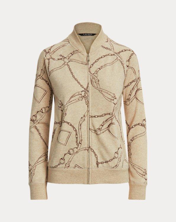 Print Cotton Bomber Jacket