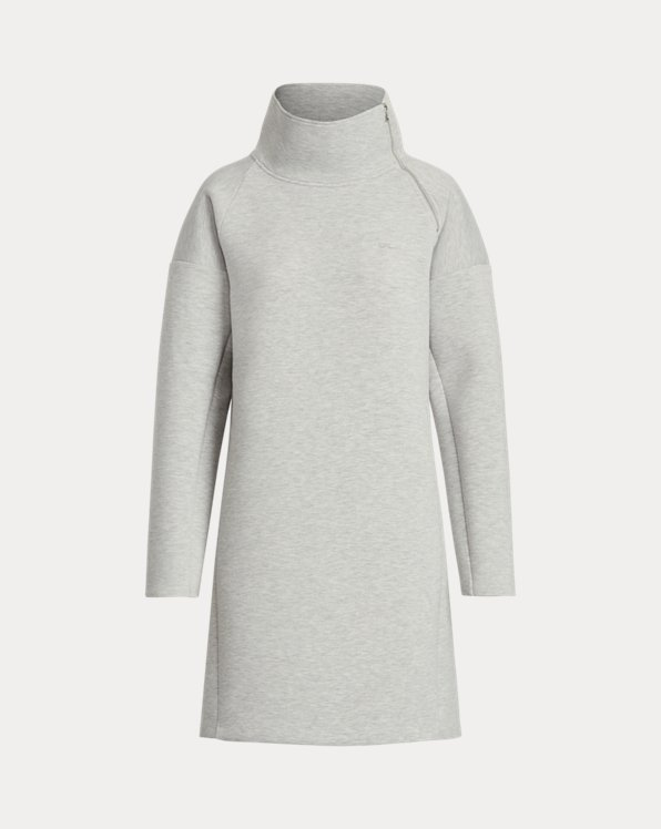 Mockneck Sweatshirt Dress