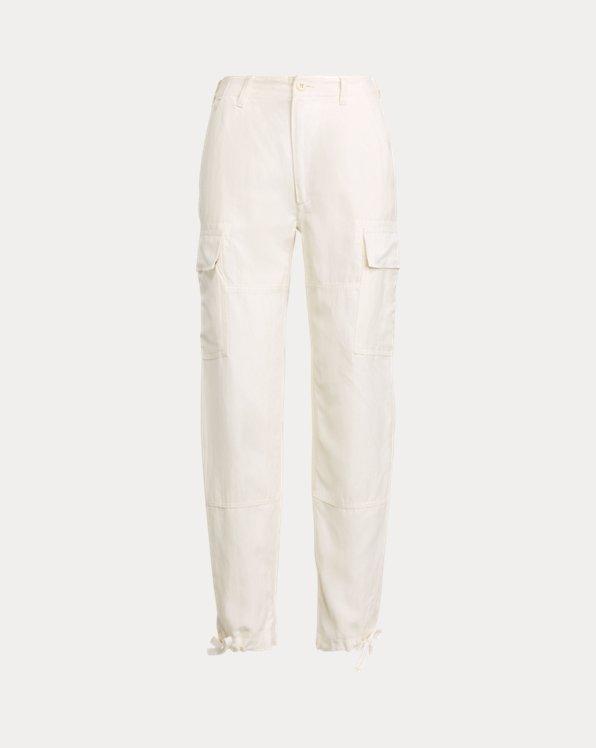 Silk-Blend Cargo Trouser