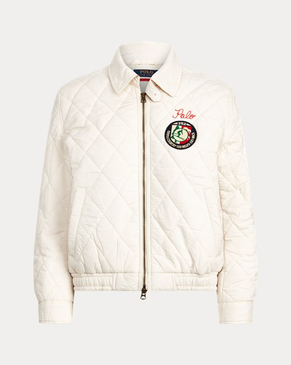 Quilted Cotton Bomber Jacket