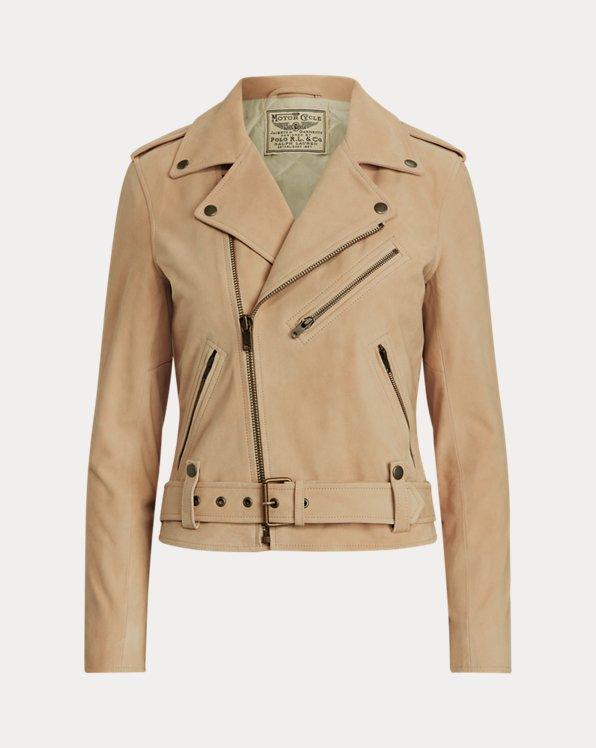 Goat-Suede Moto Jacket