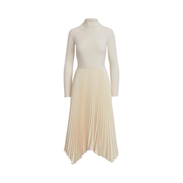 폴로 랄프로렌 Polo Ralph Lauren Long Sleeve Mockneck Dress,Clubhouse Cream
