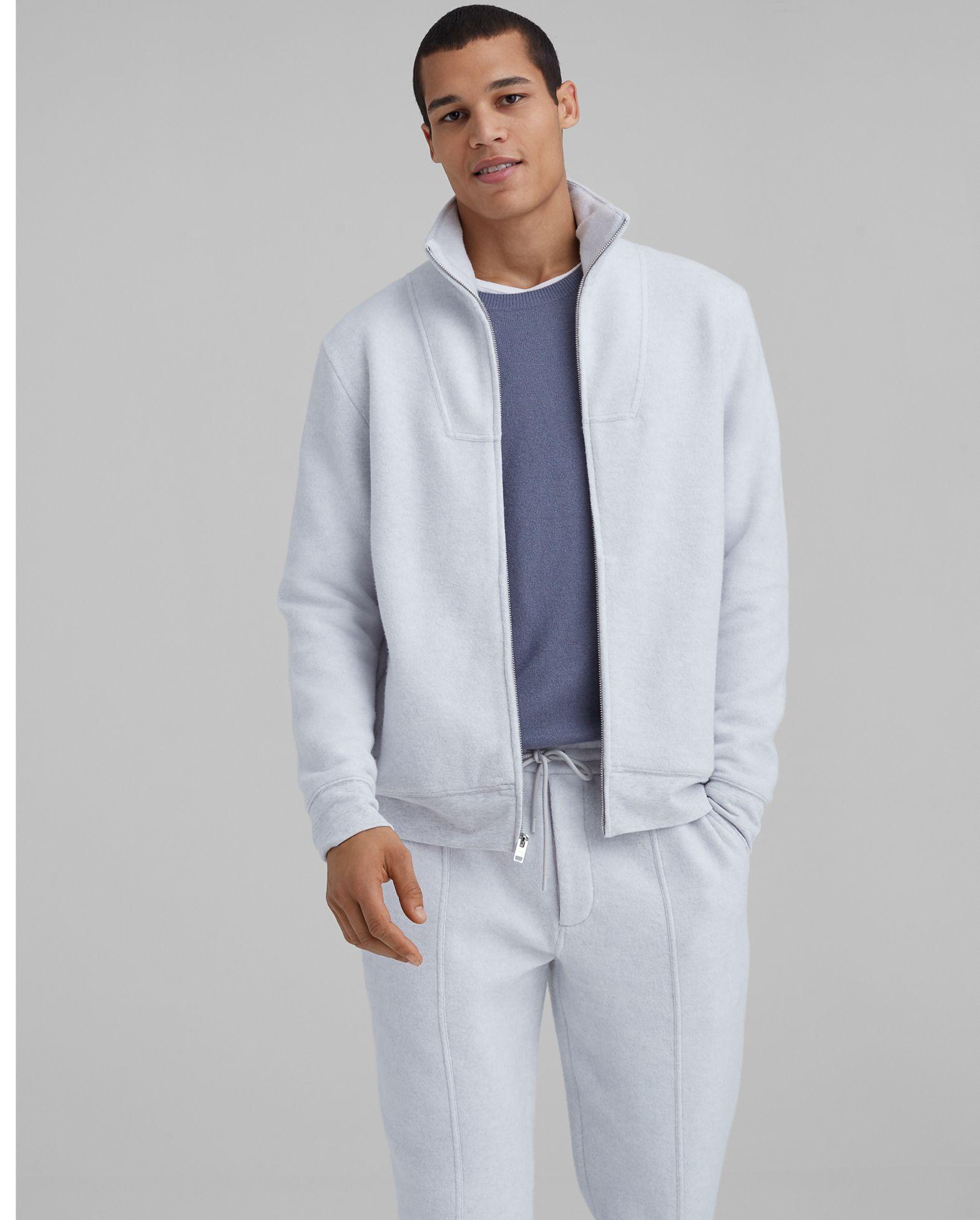 CLUB MONACO Brushed Full-Zip Sweater