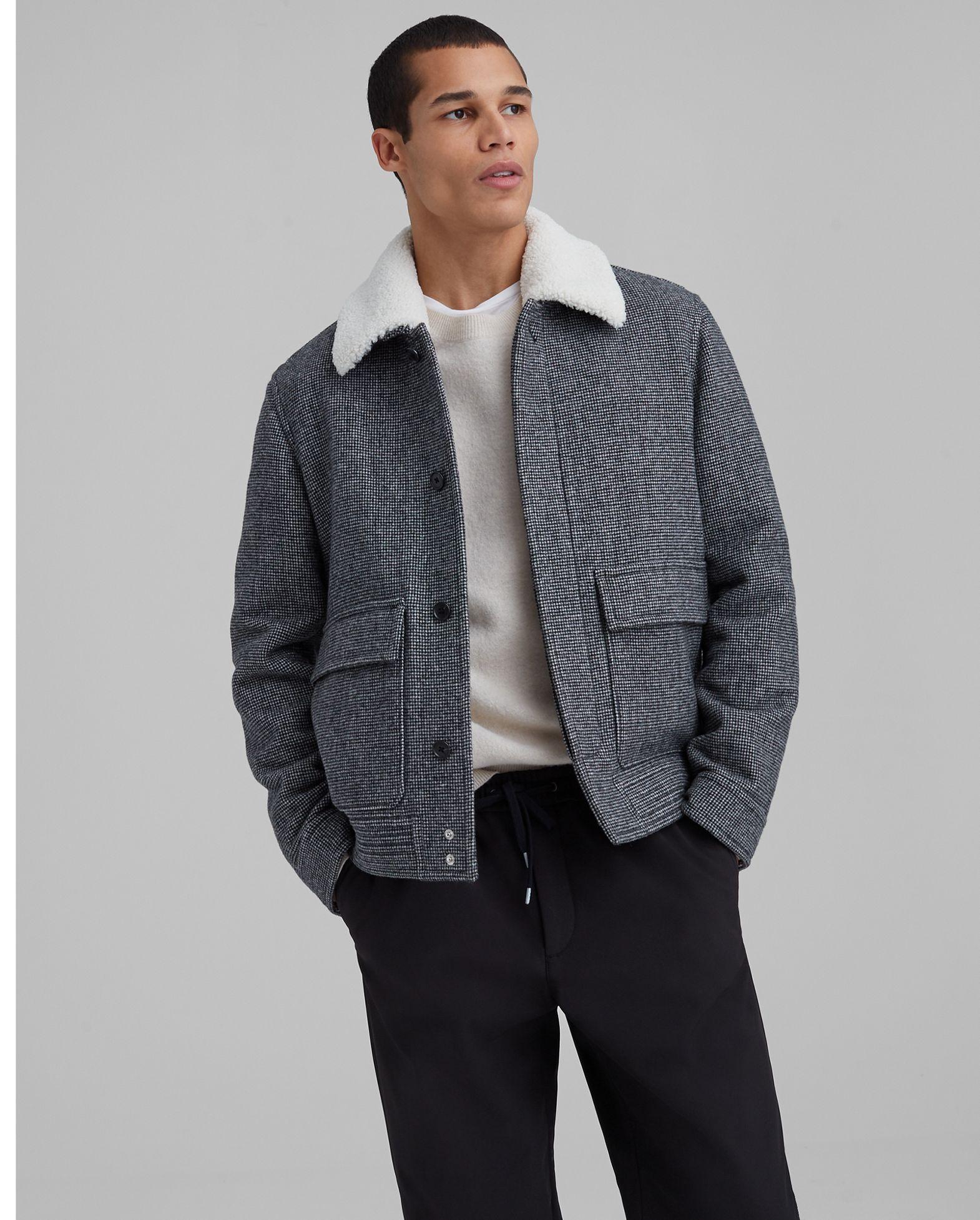 CLUB MONACO Wool Blend Bomber Jacket