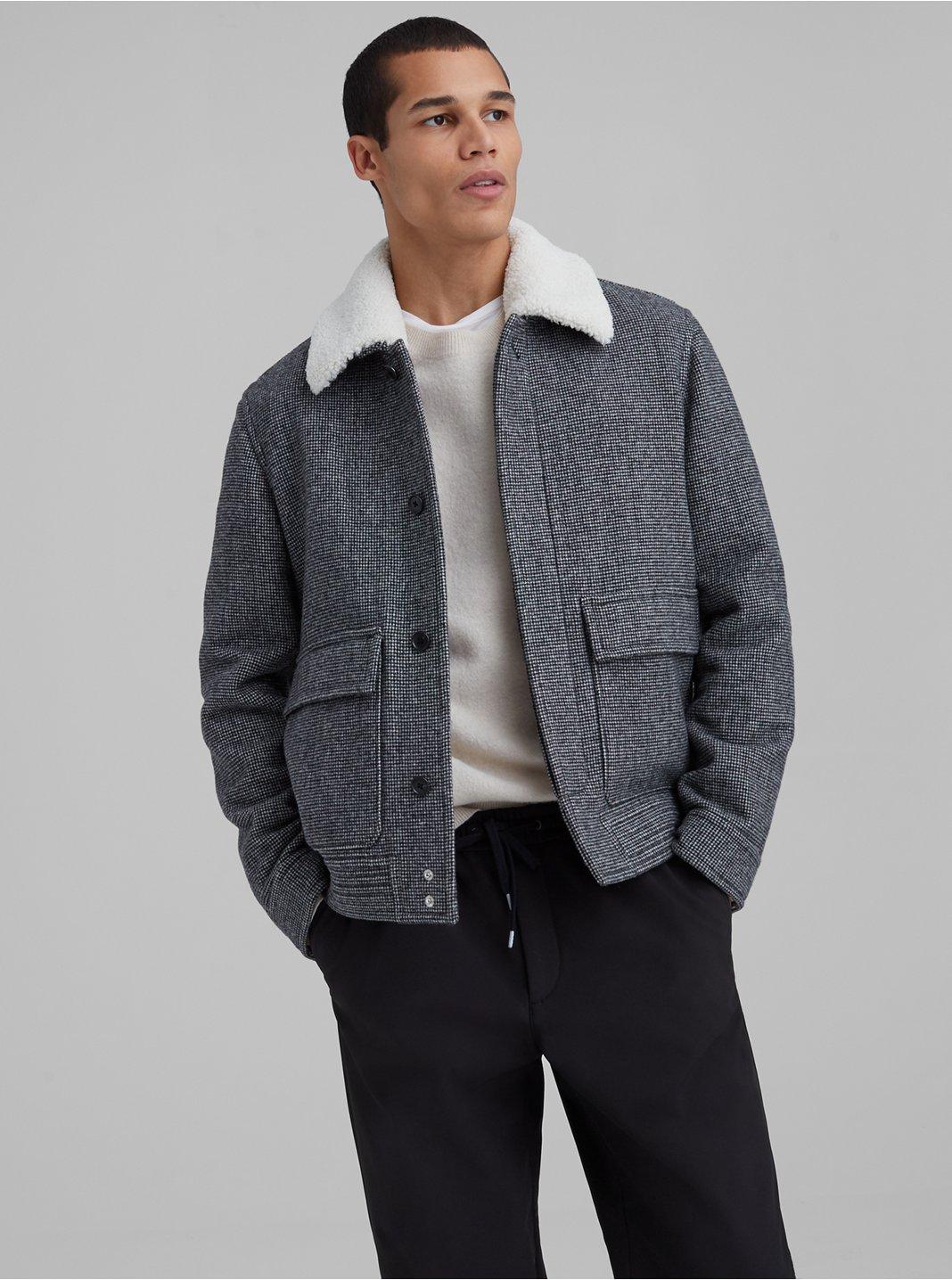 Wool Blend Bomber Jacket