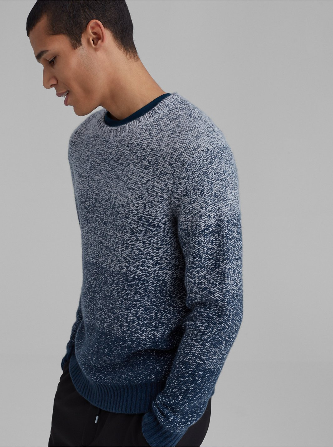 Cashmere Gradient Crewneck Sweater