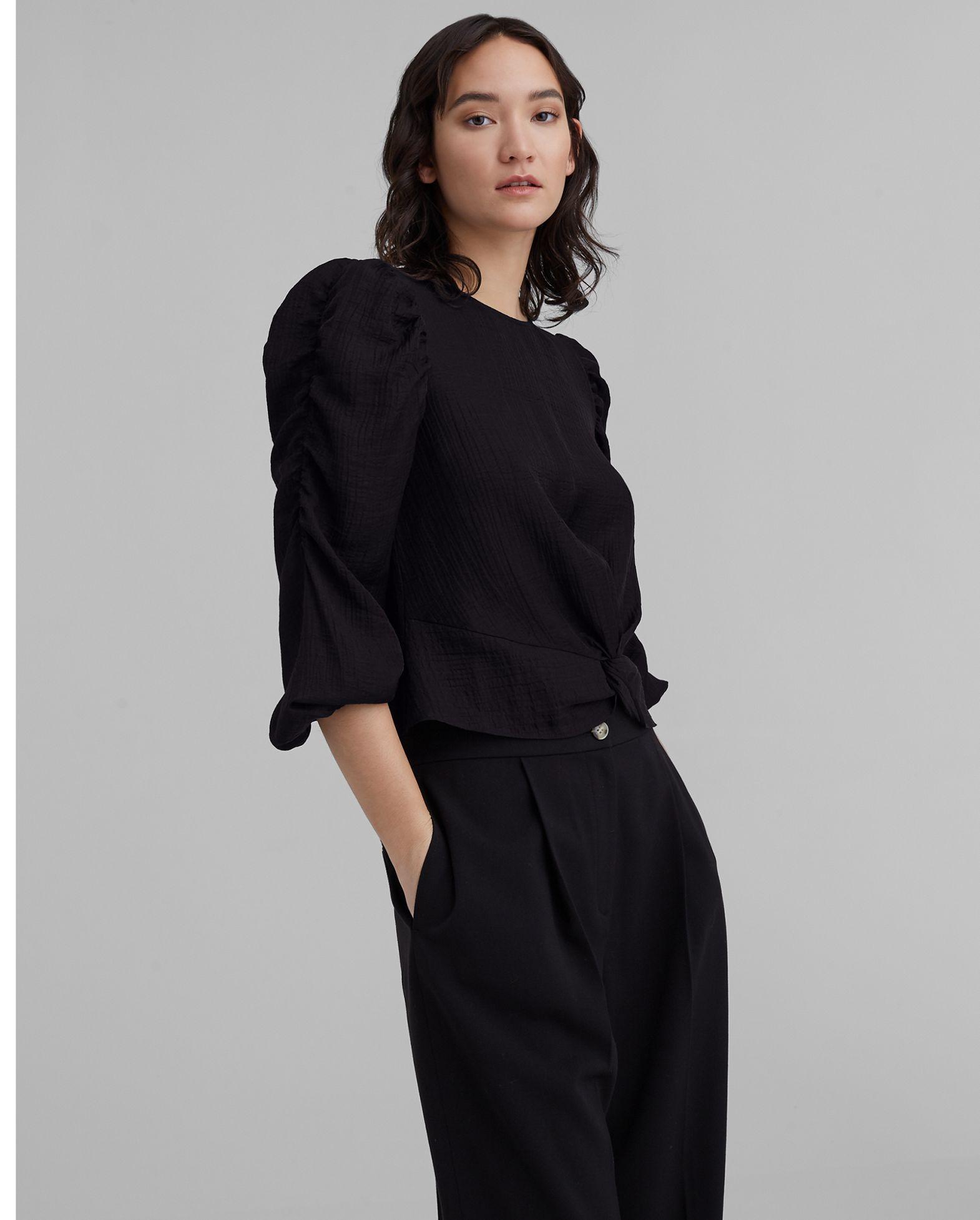 CLUB MONACO Shirred Puff Sleeve Top