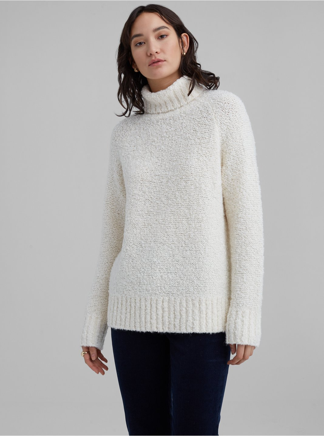 Bouclé Turtleneck Sweater