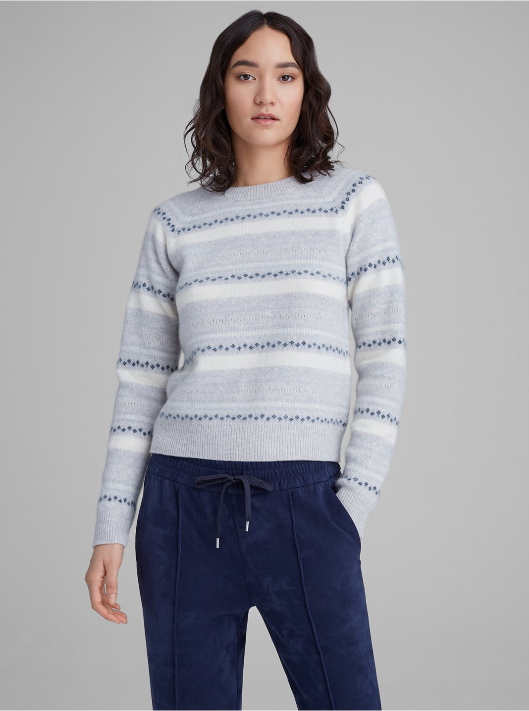 Boiled Cashmere Fair Isle Sweater