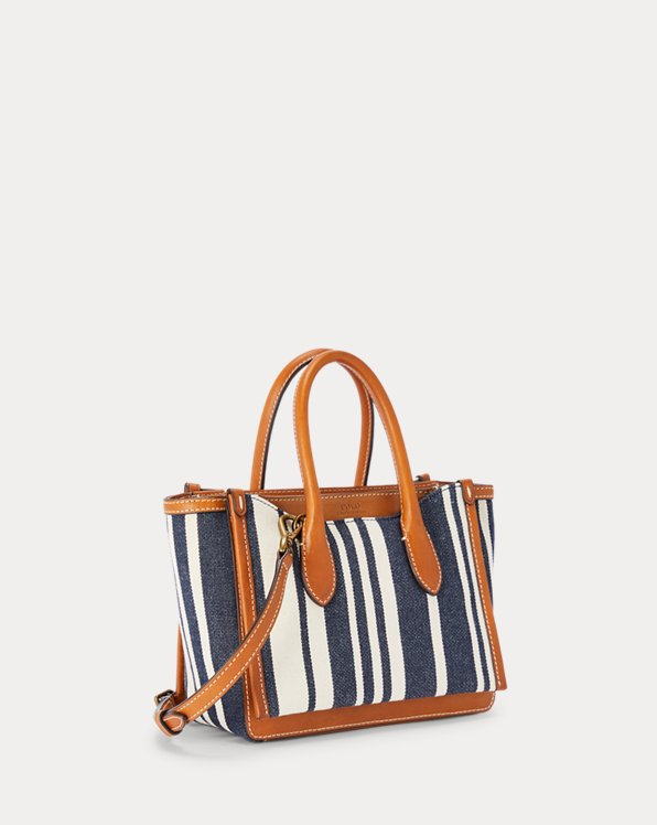 Striped Canvas Mini Sloane Satchel