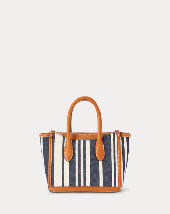 Striped Canvas Mini Sloane Satchel