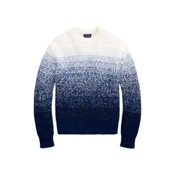 폴로 랄프로렌 Polo Ralph Lauren Wool Blend Ombre Sweater,Blue