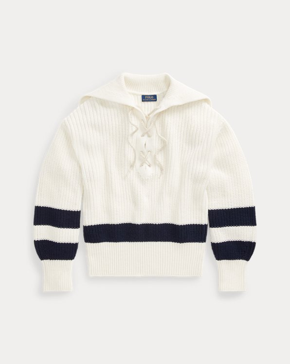 Cotton Lace-Up Jumper