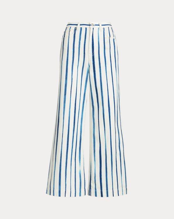 Pantaloni a gamba larga a righe