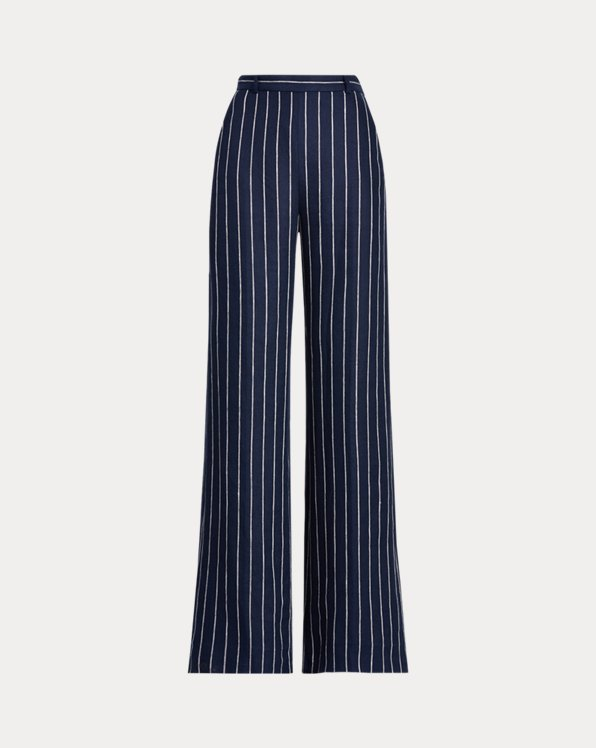 Pinstripe Linen Trouser