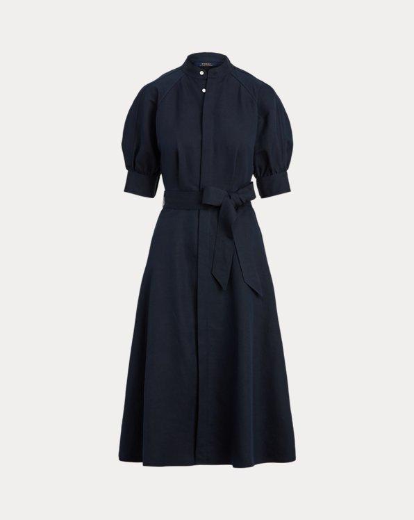 Silk A-Line Dress