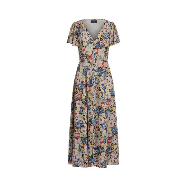폴로 랄프로렌 Polo Ralph Lauren Floral V Neck Dress,Hampton Floral