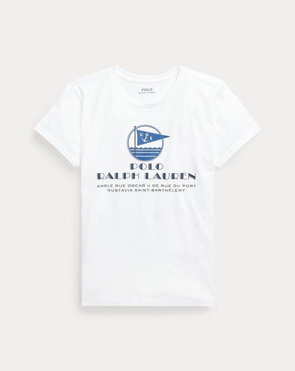 Maglietta in cotone con grafica e logo