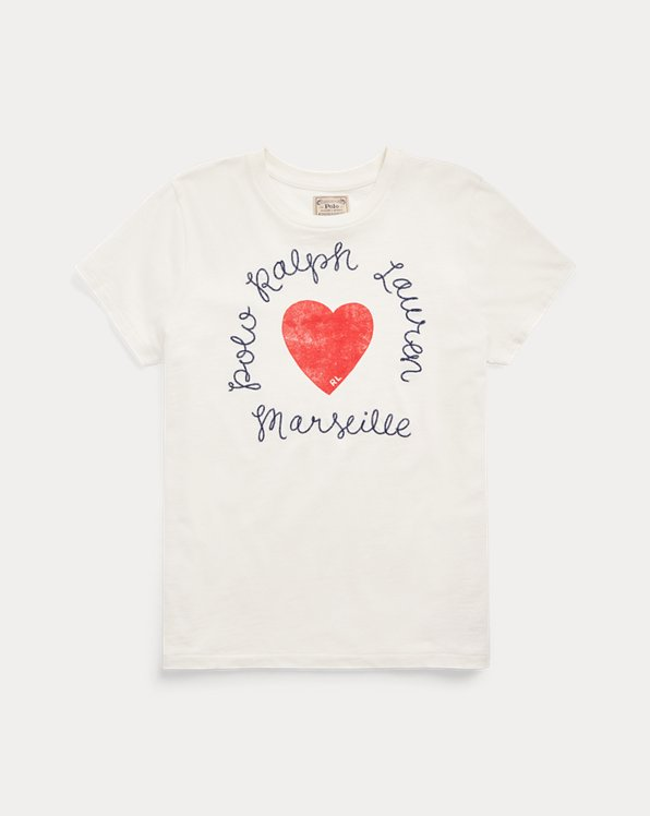 Heart Logo Cotton Jersey Tee