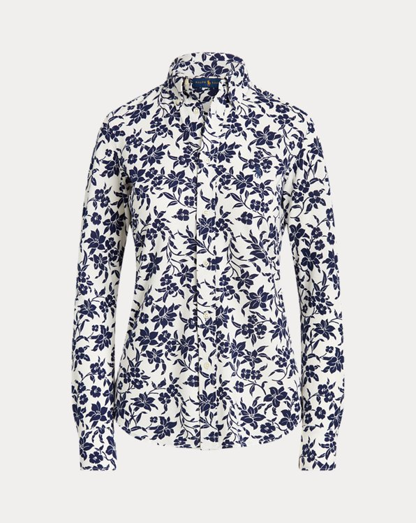 Floral Cotton Button-Down Shirt