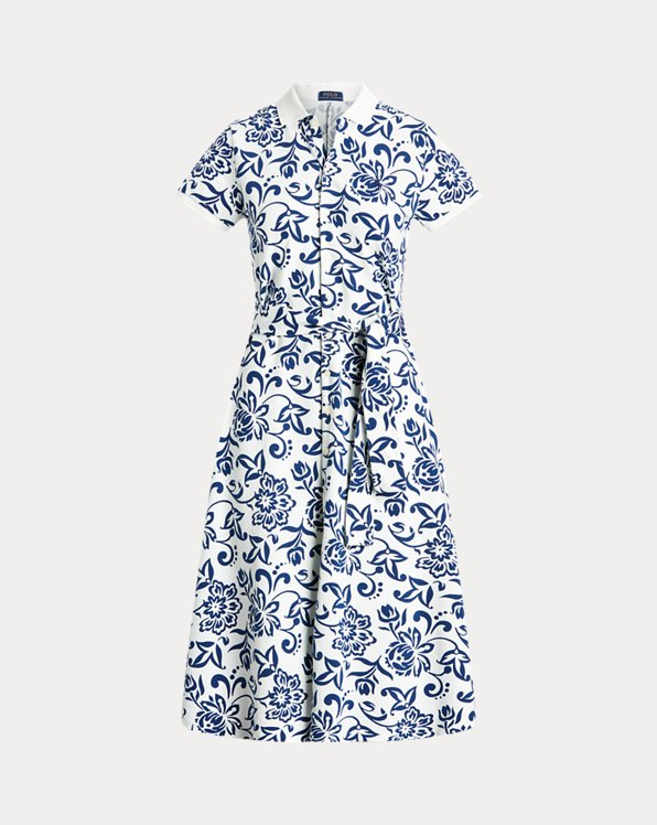 Floral Belted Cotton Dress