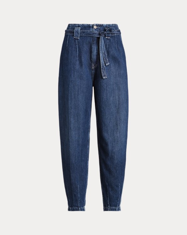Belted Denim Trouser