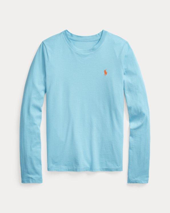 Camicia in jersey a maniche lunghe