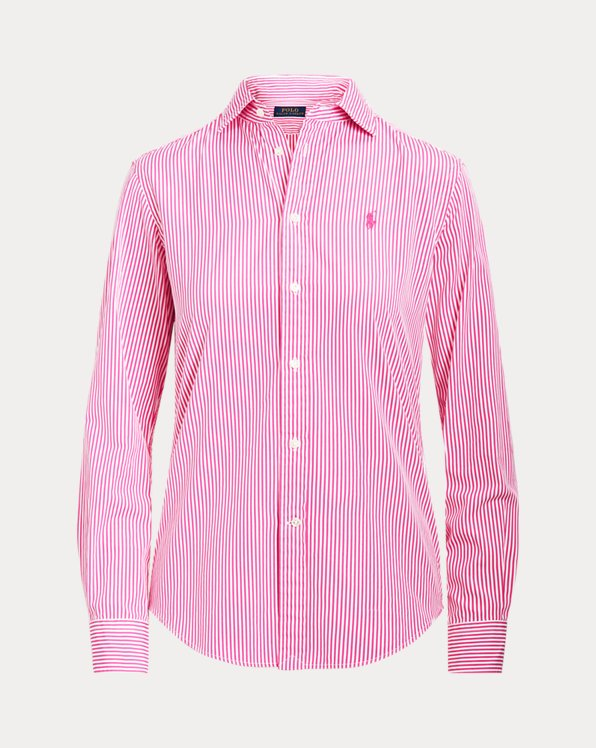 Classic Fit Striped Cotton Shirt