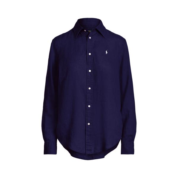 Ralph Lauren Relaxed Fit Linen Shirt In Blue