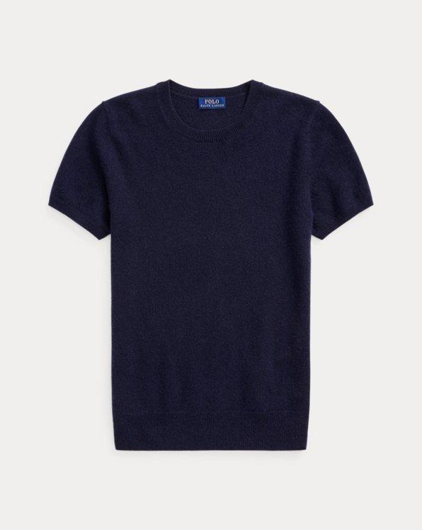 Cashmere Short-Sleeve Jumper
