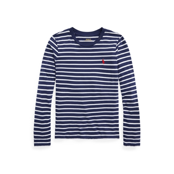 폴로 랄프로렌 Polo Ralph Lauren Striped Cotton Shirt,New Classic Navy/White