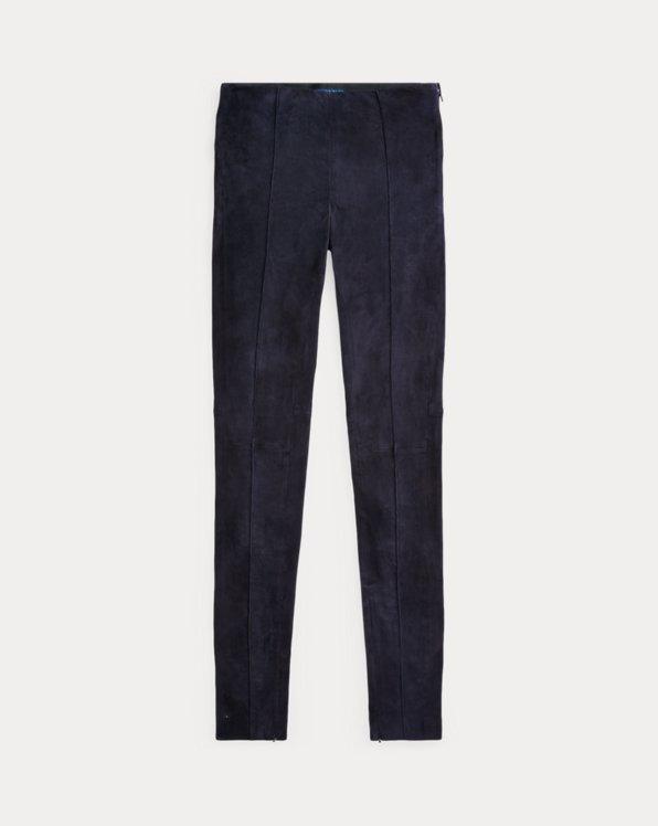 Lamb-Suede Skinny Trouser