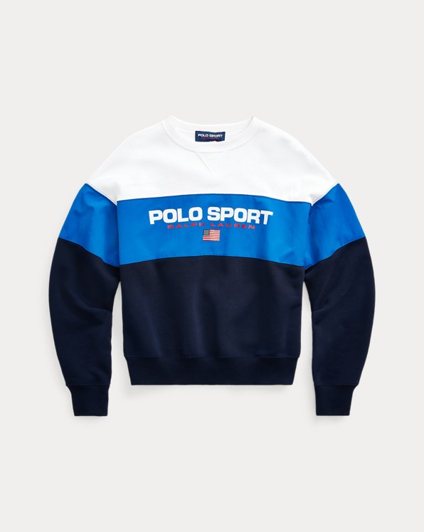 Colour-Blocked Polo Sport Sweatshirt