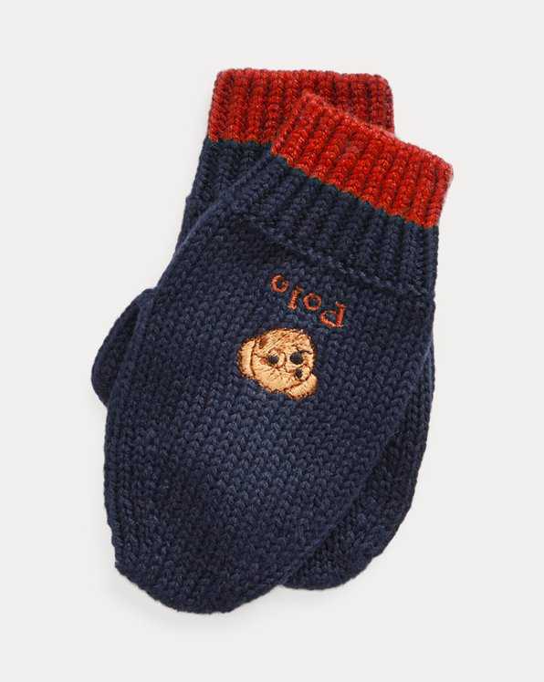 Polo Bear Cotton Mittens