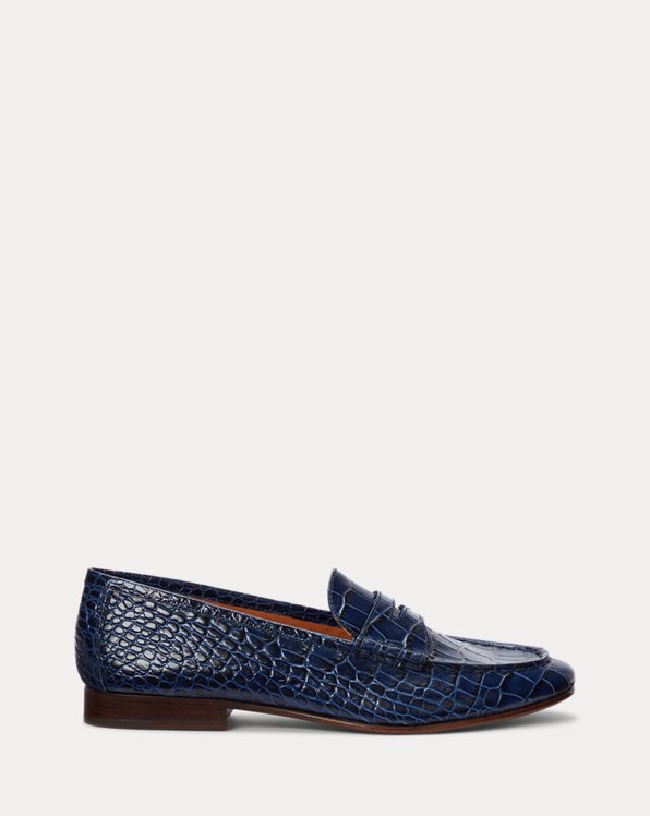 Ashtyn Embossed Leather Loafer