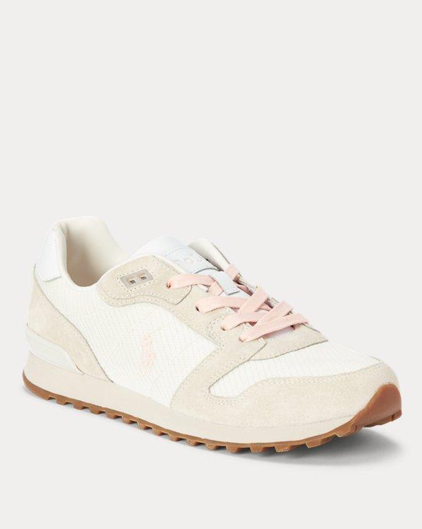 Classic Runner Suede-Trim Sneaker
