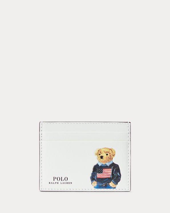 Kartenetui aus Leder mit Polo Bear